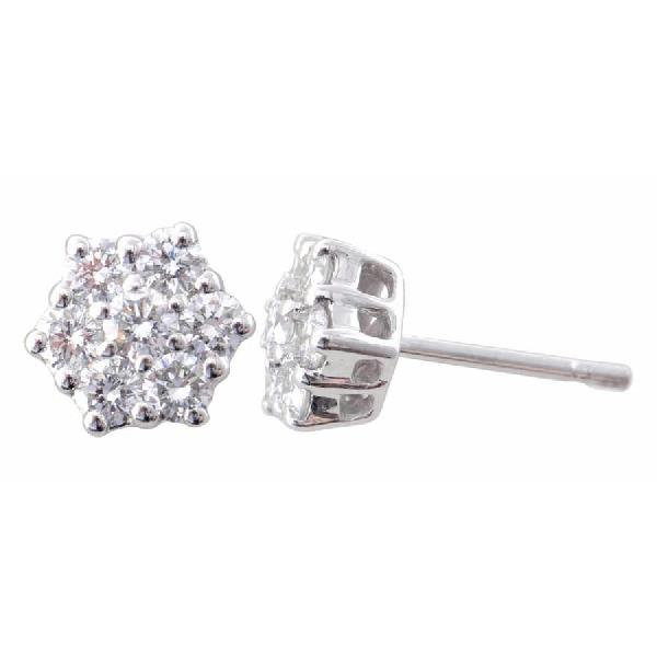 Earrings 18kt White Gold and Diamonds.