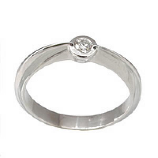 Solitaires White Gold 18Kt Diamonds 0.1c