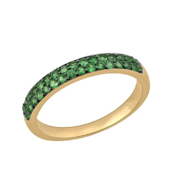 Ring in 18 Kt Gold with Tsavorite