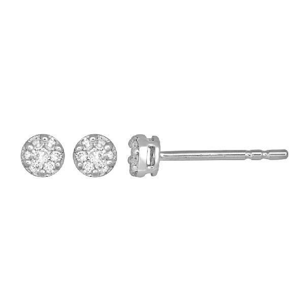 Earrings White Gold 18 Kt Diamond