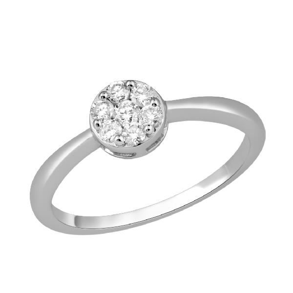 Ring White Gold 18 Kt Diamond