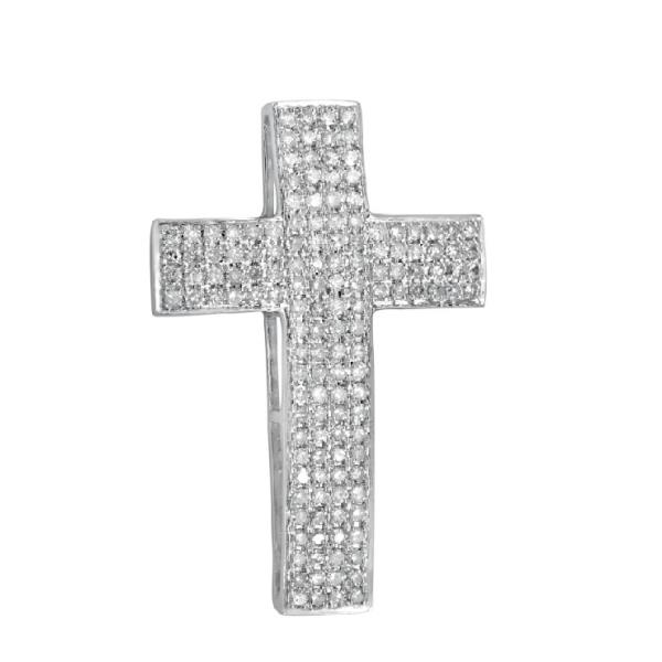Pendant in 18 Kt White Gold with Diamonds White
