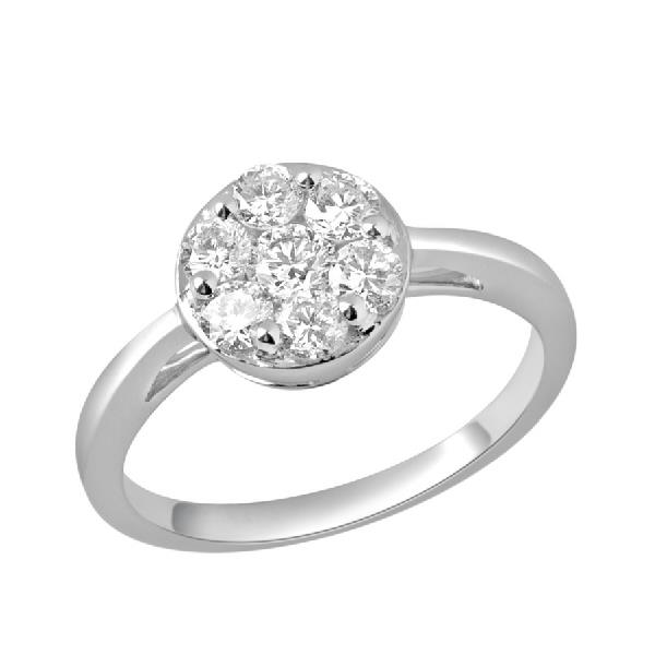 Ring in white gold 18 Kt with Diamonds