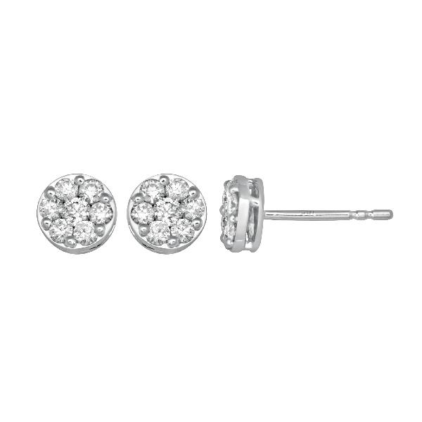 Earrings white gold 18 Kt with Diamonds