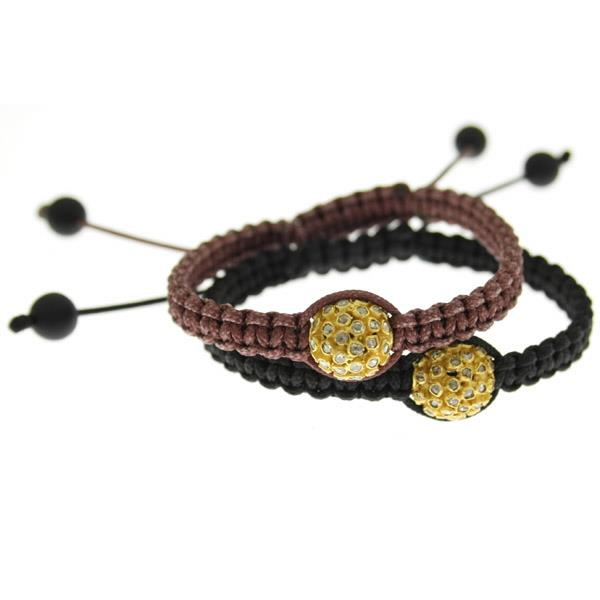 Bracelet Macrame Gold and Diamonds.