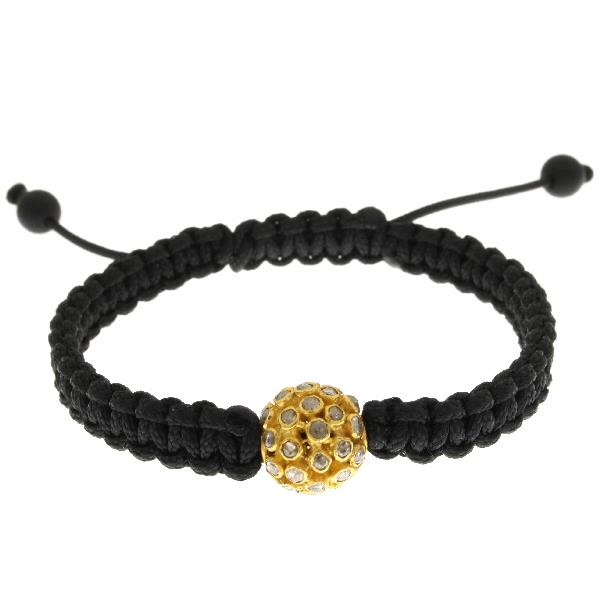 Bracelet Macrame Yellow Gold 18Kt Diamonds