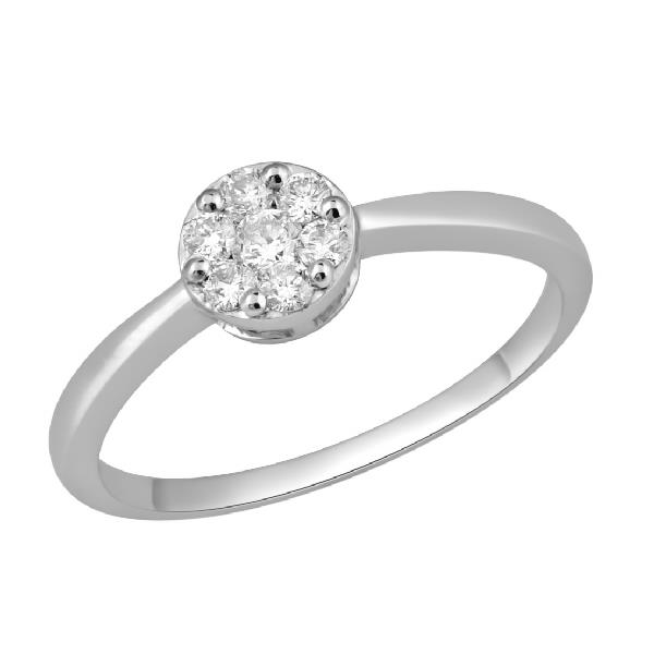 Ring White Gold 18K Diamond