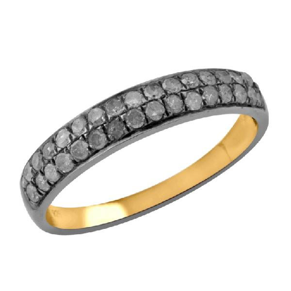 Ring in Silver with Diamonds