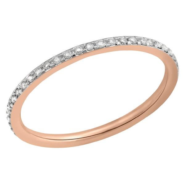 Ring in 14 Kt Rose Gold with Diamonds