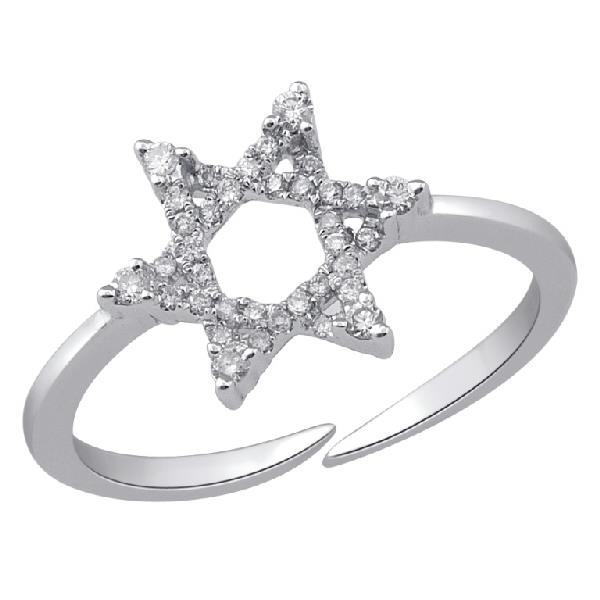 Ring in 18k white gold with Diamonds