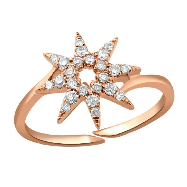 Ring in 18K Rose gold with diamonds
