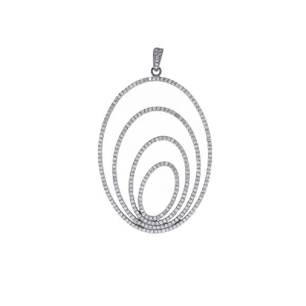 Pendant in silver & Diamonds