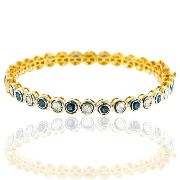 Bangles Gold 14Kt, Silver Diamonds Sapphires