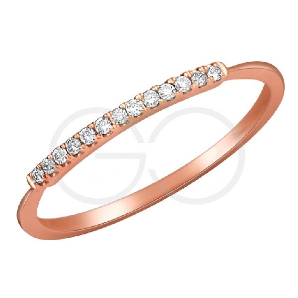 Ring in 18Kt Rose gold with Diamonds