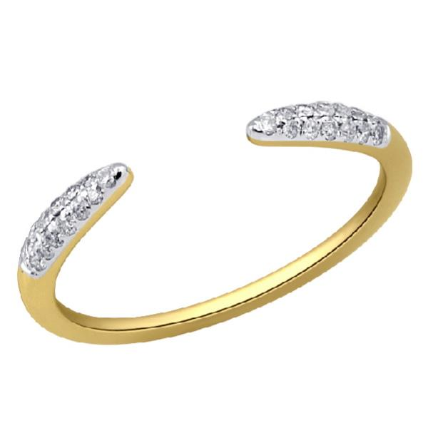 Ring in 18 Kt yellow gold with diamonds