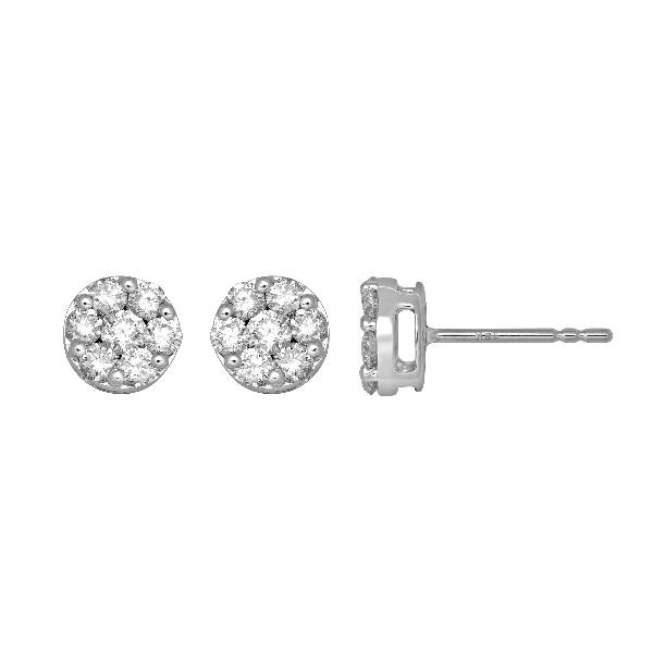 18 Kt White gold Earrings Diamonds