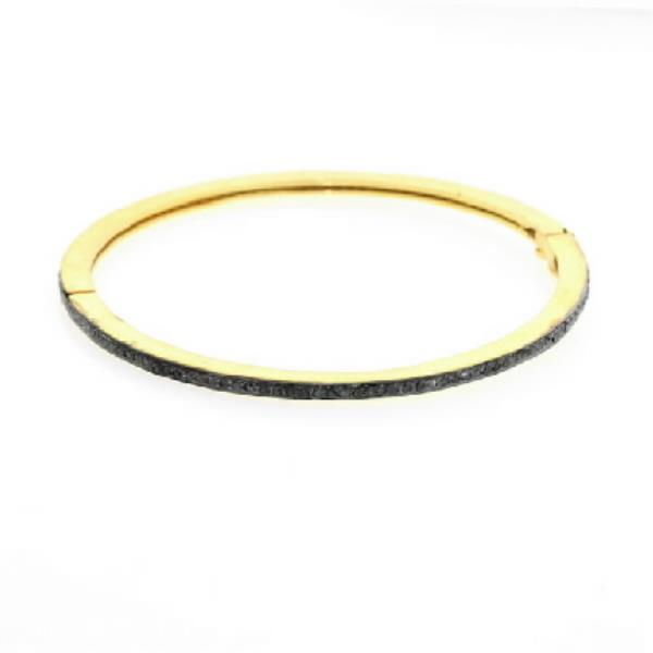 Bangles Gold 18Kt Diamonds Silver