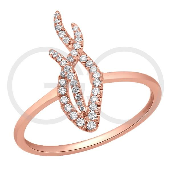 Ring in 18 Kt Rose gold with Diamonds