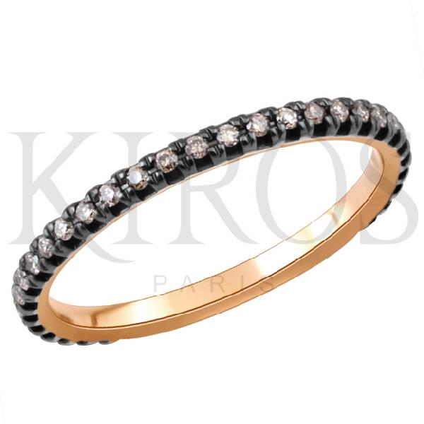 Alianza Oro Rosa 18 Kt Diamantes brown
