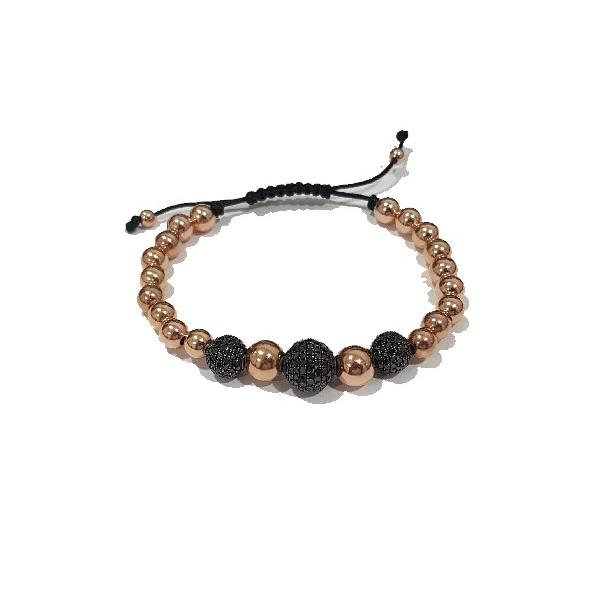 Pulsera Plata Diamantes Black