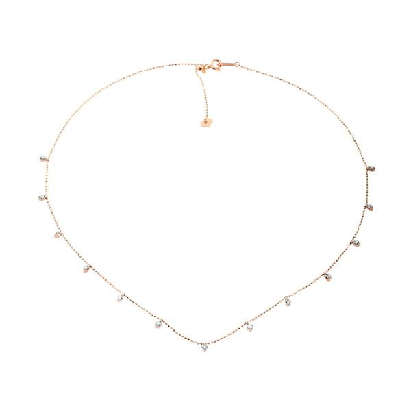 Necklace 18Kt Rose Gold with diamonds