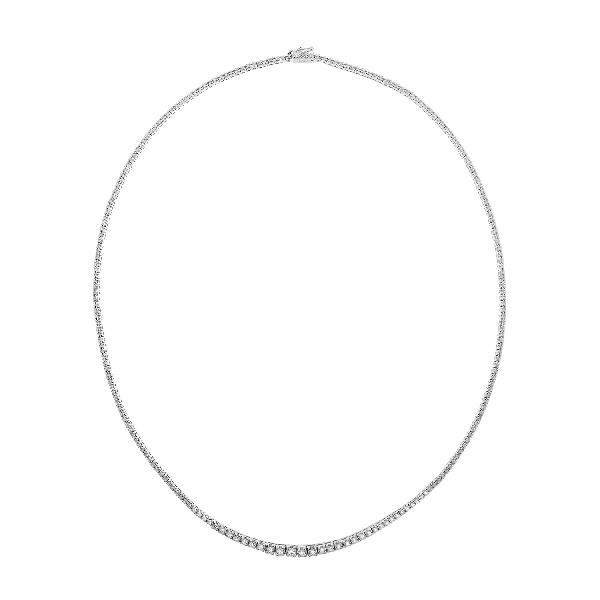 Collar Oro Blanco 18 Kt Diamantes