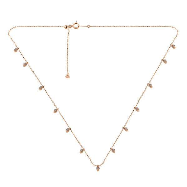 Necklace 18 Kt Rose Gold Brown Diamonds