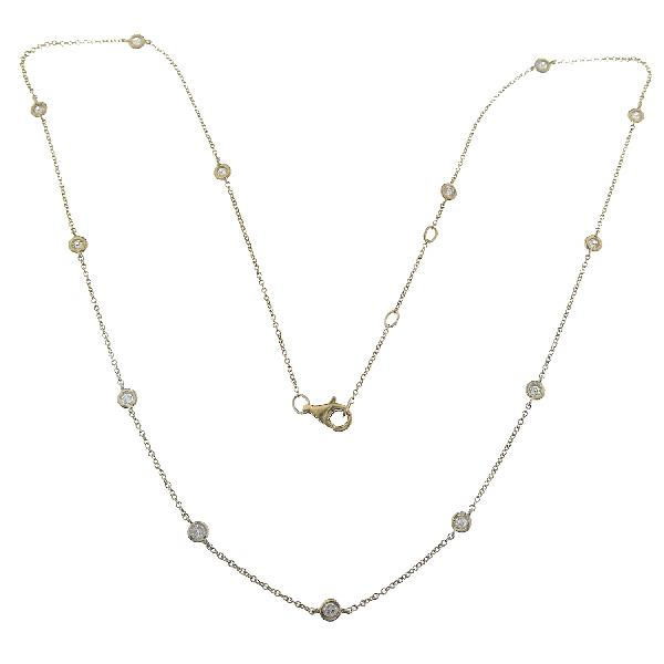 Necklace in 18 Kt Yellow Gold & Diam