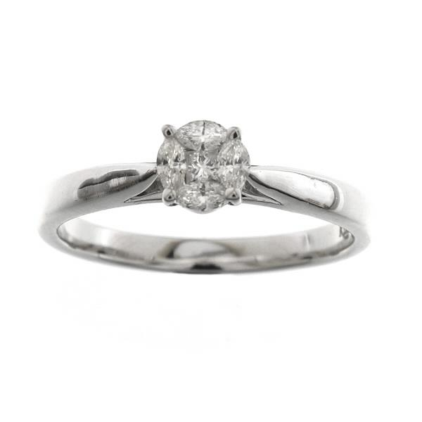 Ring in 18 Kt White Gold with Diam