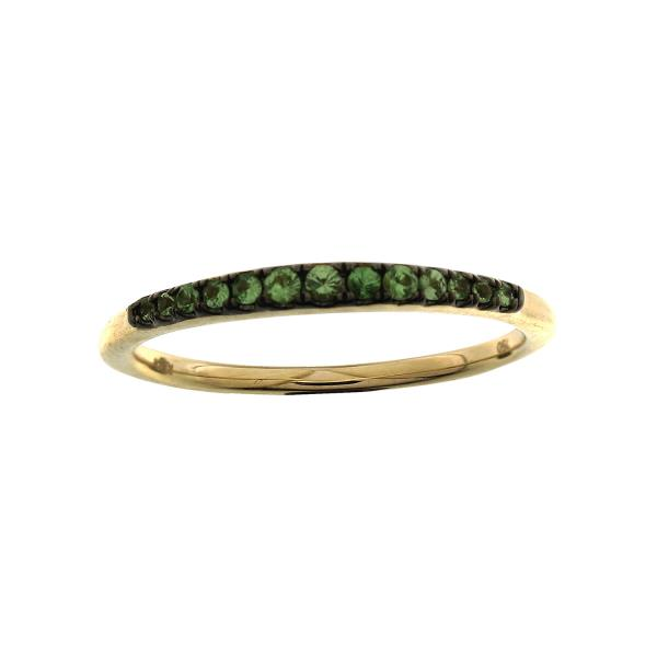 Ring 18Kt Yellow Gold Tsavorite