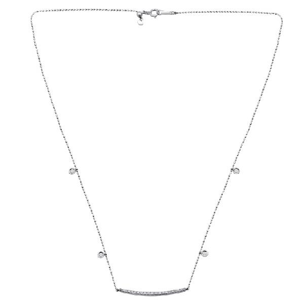 Necklace 18Kt White Gold Diamonds
