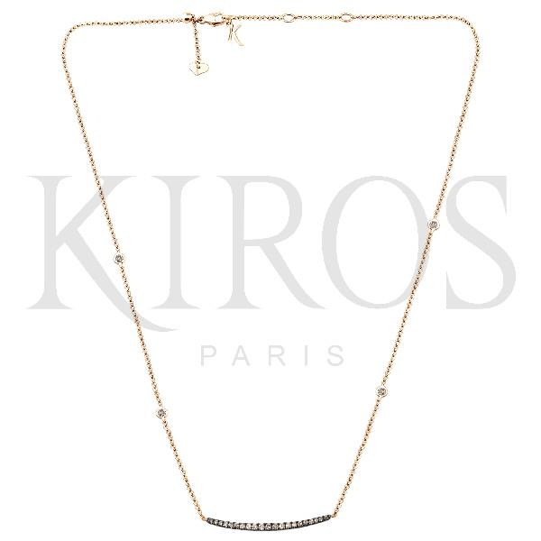 Necklace 18Kt Rose Gold Brown Diamonds
