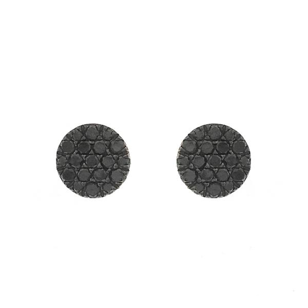 Earrings in 18 Kt rose gold with black diamonds