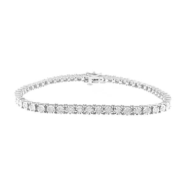 Bracelet 9 Kt White Gold and Diamonds