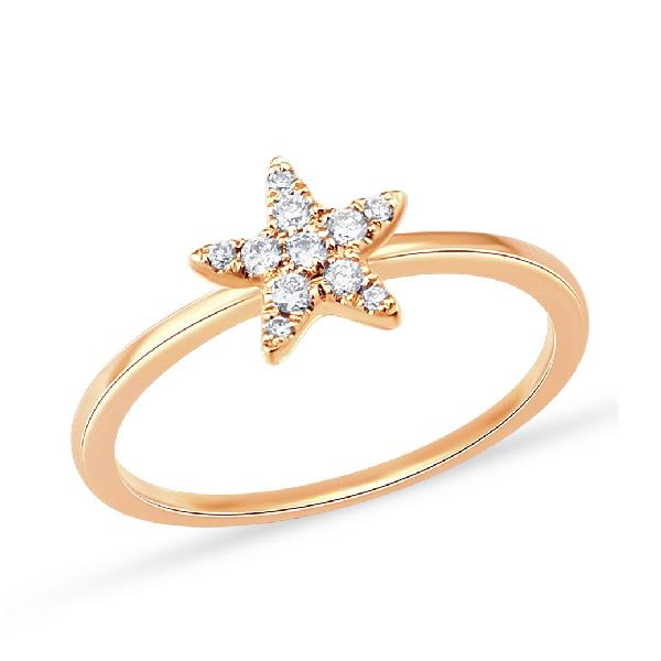 18 Kt Rose gold Ring Diamonds