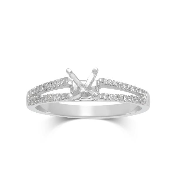 Ring 18Kt White Gold Semimounting Diamon