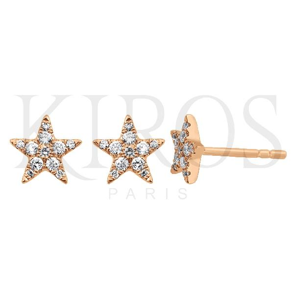 18 Kt Rose gold Earrings Diamonds