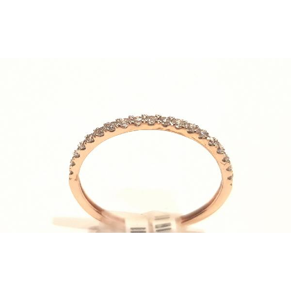 Ring 18 Kt Rose Gold & Diamonds