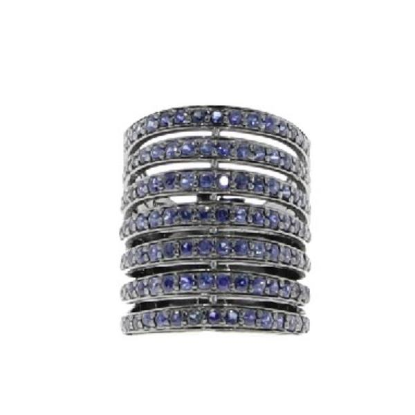 Ring Silver with Sapphires