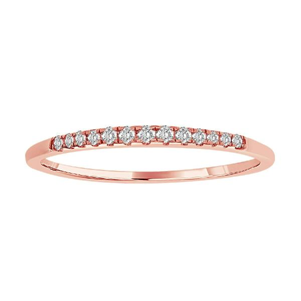 Ring 18Kt Rose Gold Diamonds