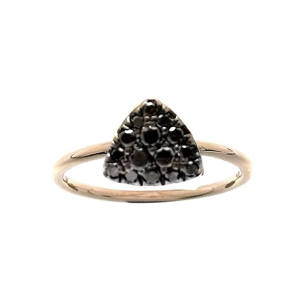 Ring 18Kt Rose Gold Black Diamonds