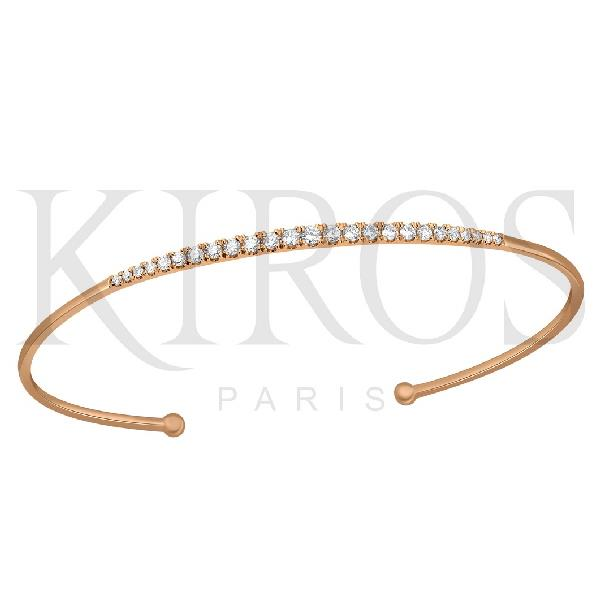 Bangle 18 Kt Rose Gold Diamonds