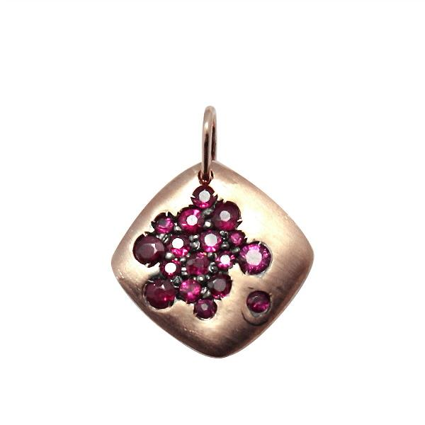 Pendant 18Kt Rose Gold Ruby
