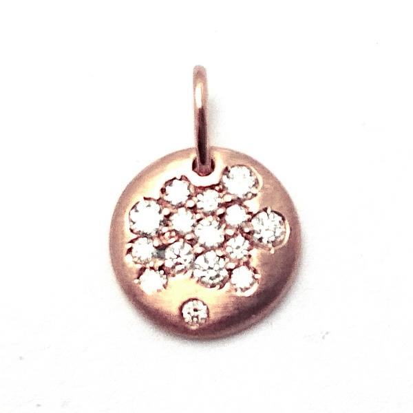 Pendant 18 Kt Rose Gold Diamonds