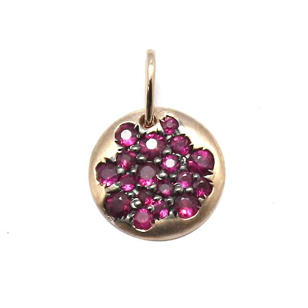 Pendant 18 Kt Rose Gold Ruby