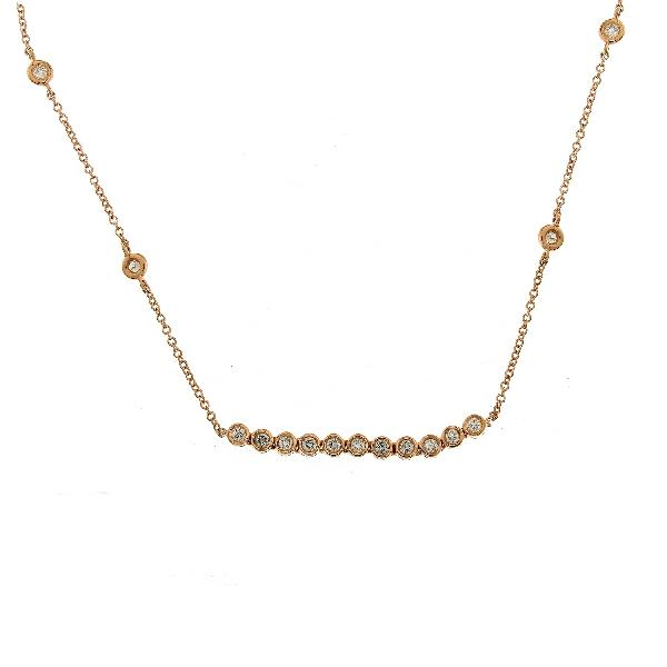 Necklace 18Kt Rose Gold Diamonds