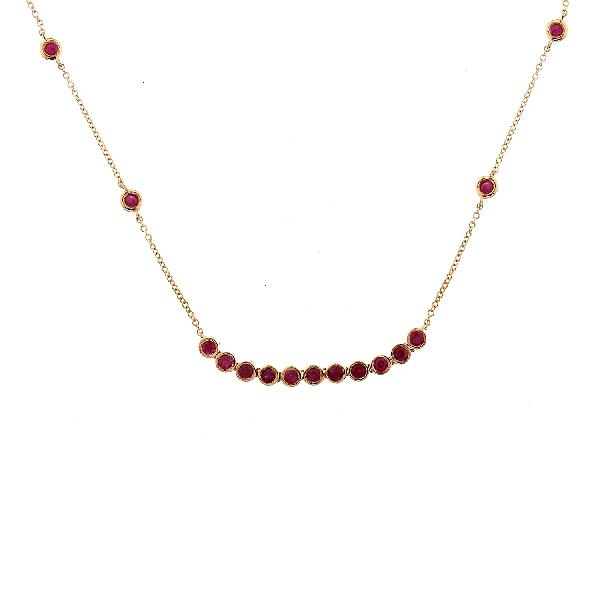 Necklace 18Kt Rose Gold Rubies