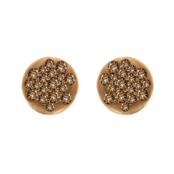Earrings 18Kt Rose Gold Diamonds