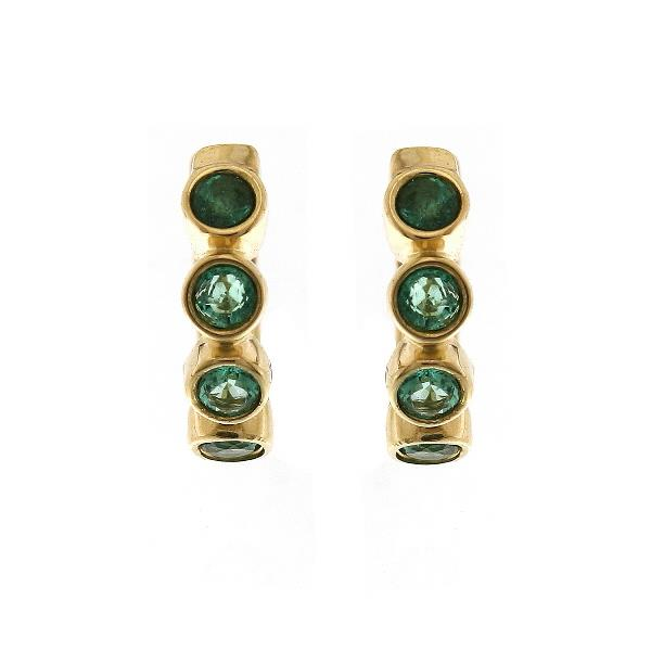 Earrings 18Kt Yellow Gold Emeralds