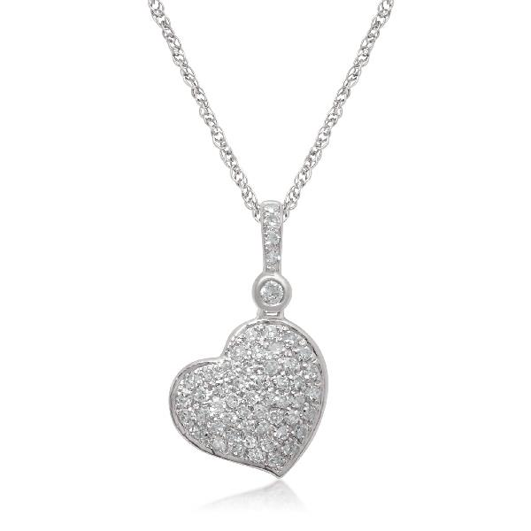 Pendant 18Kt White Gold Diamonds